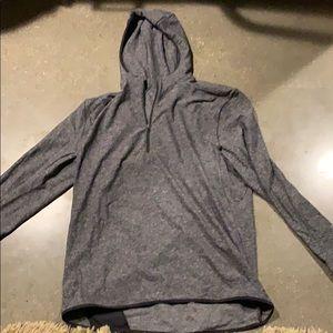Hooded quarter zip